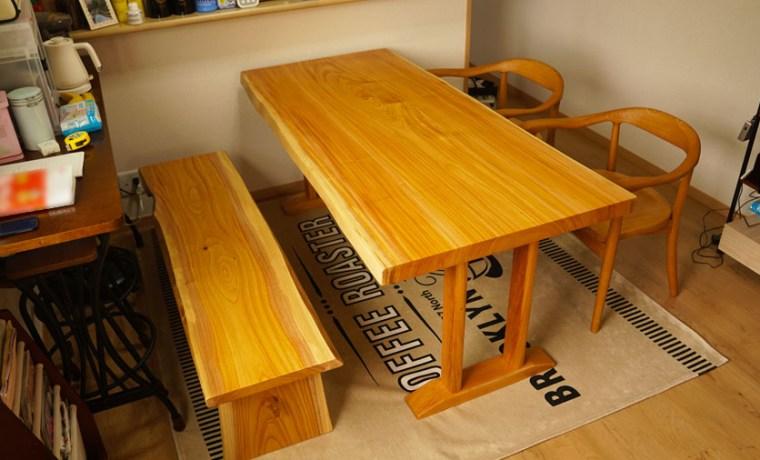無垢1枚板ダイニングテーブルセット