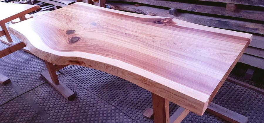 杉一枚板テーブル天板