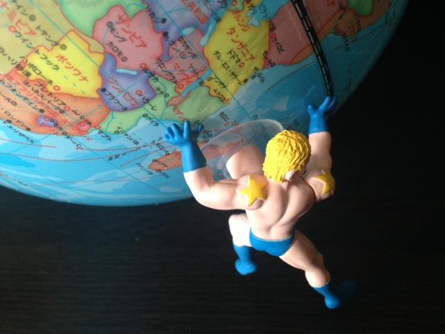 テリーマンと地球儀