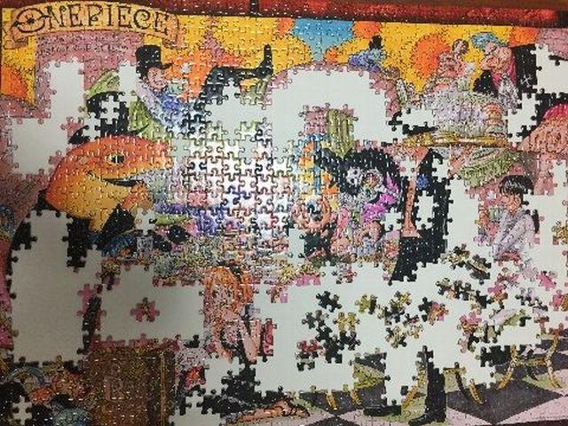 ワンピースのジグゾーパズル