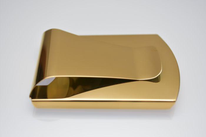 ストラスのマネークリップ「ゴールド」