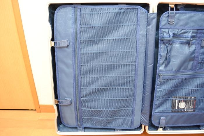 タビトラのスーツケースMサイズの収納