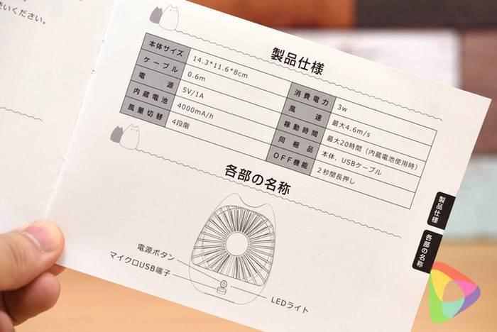 ZNT 萌えニャンコ扇風機の取扱説明書