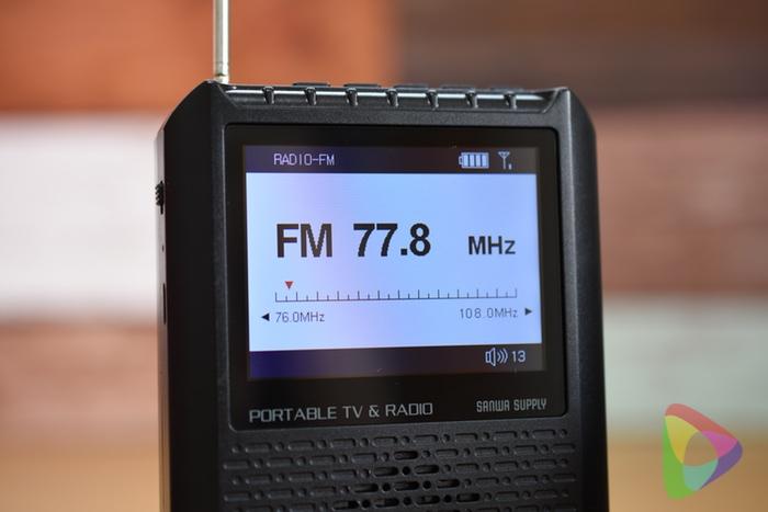 ポータブルテレビ「400-1SG005」のラジオ機能