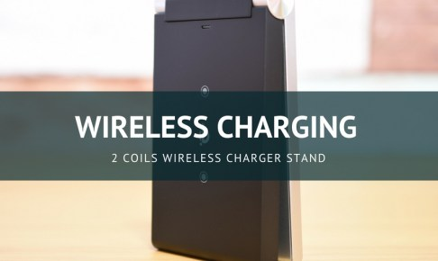 2 Coils Wireless Charger Stand