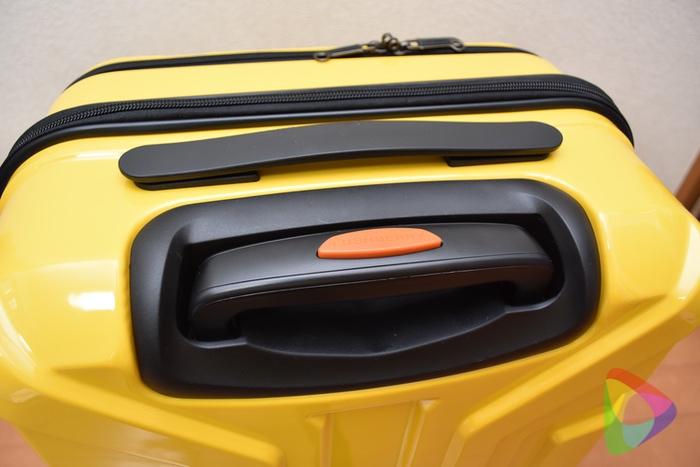 LUSHBERRYのスーツケースのキャリーハンドル