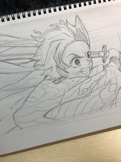 竈門炭治郎イラスト(最終選別)