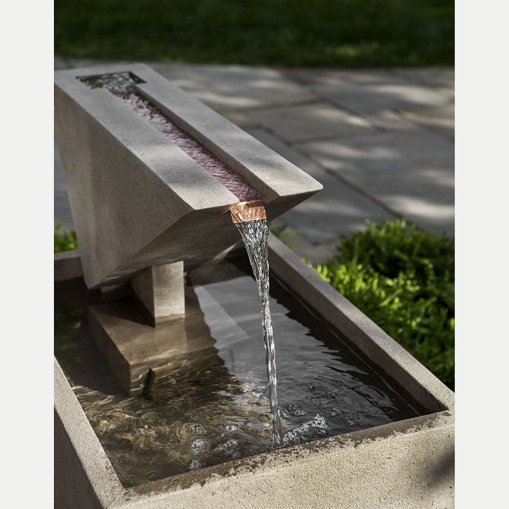 Ultra Modern Triad Outdoor Water Fountain | Kinsey Garden ... on Modern Backyard Water Feature id=25928