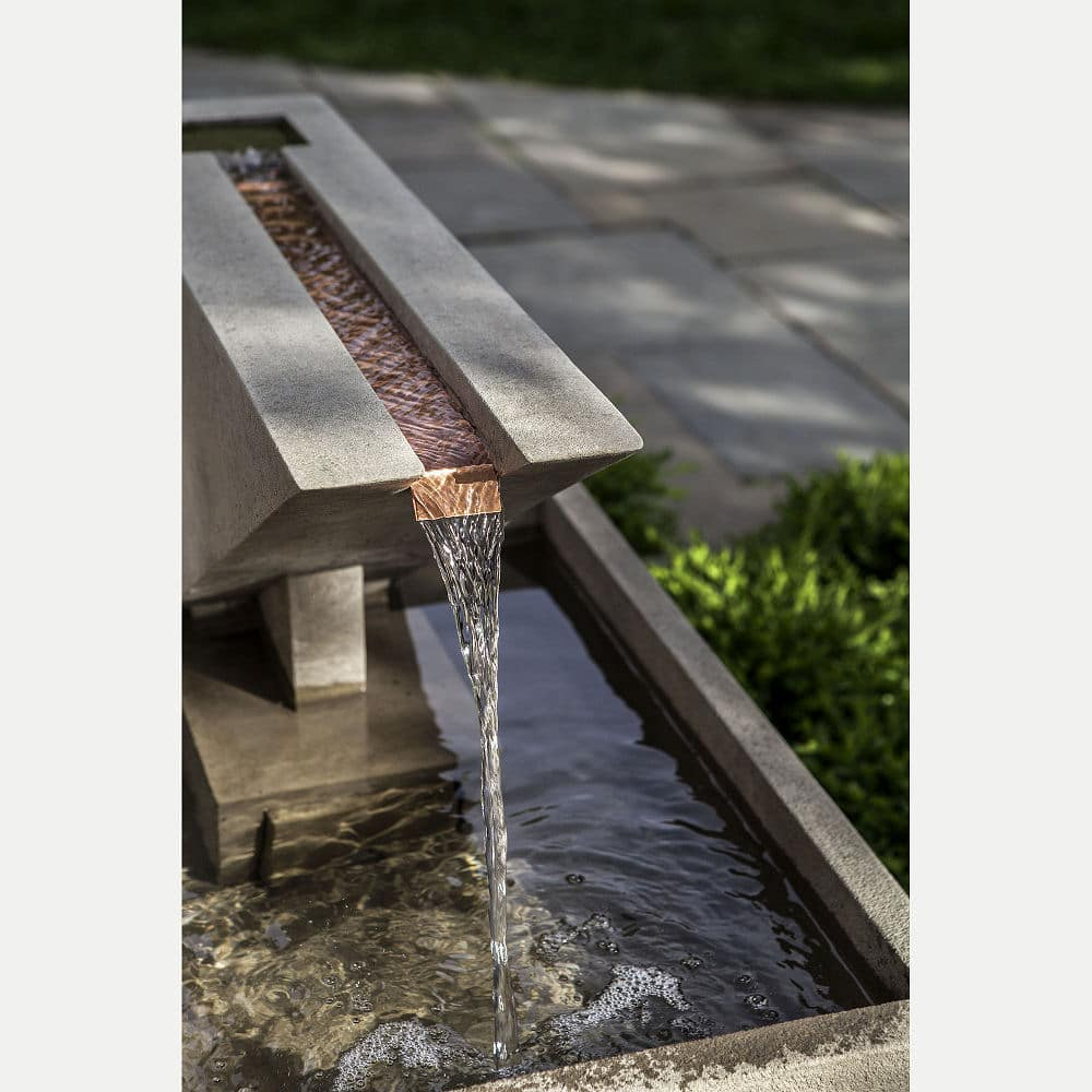 Ultra Modern Triad Outdoor Water Fountain | Kinsey Garden ... on Modern Backyard Water Feature id=95013