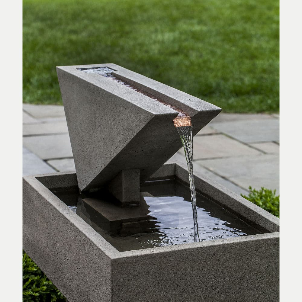 Ultra Modern Triad Outdoor Water Fountain | Kinsey Garden ... on Modern Backyard Water Feature id=60494