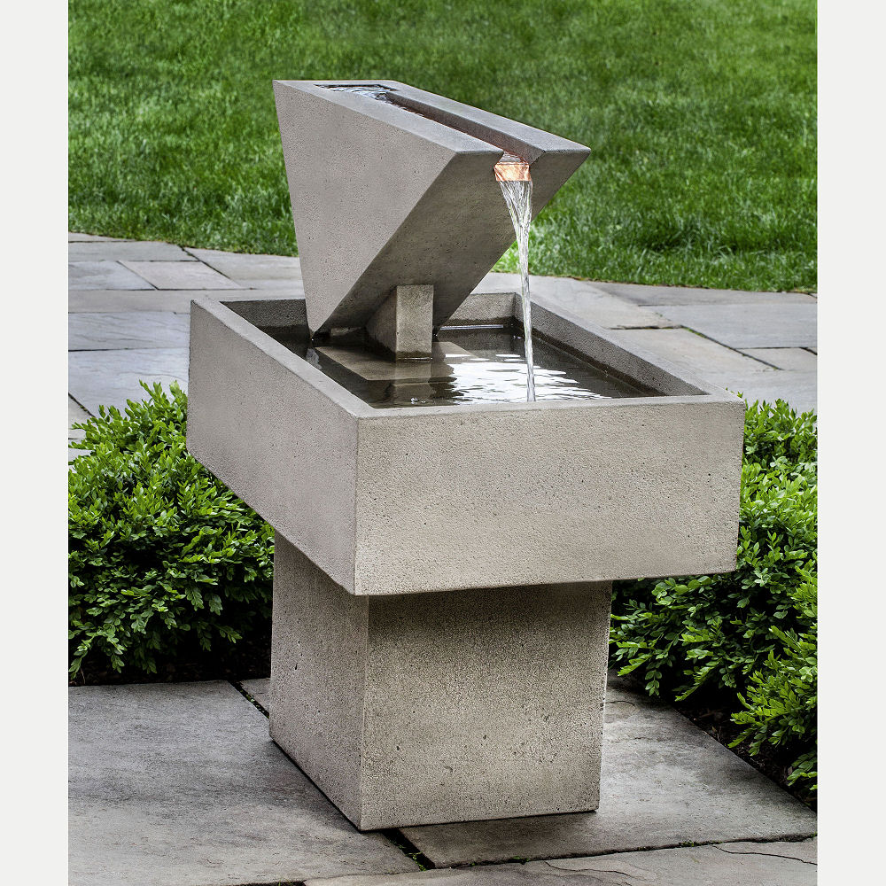 Ultra Modern Triad Outdoor Water Fountain | Kinsey Garden ... on Modern Backyard Water Feature id=40631