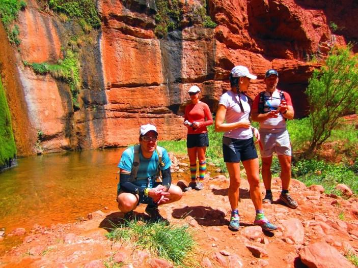 Ryne, Heather, Francine & James enjoying the cool air
