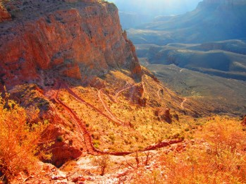 South Kaibab's steep switchbacks after O'Neill Butte