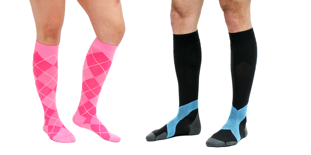 """If you're wondering """"Which compression socks should I wear?"""", here are everyday compression sock styles."""