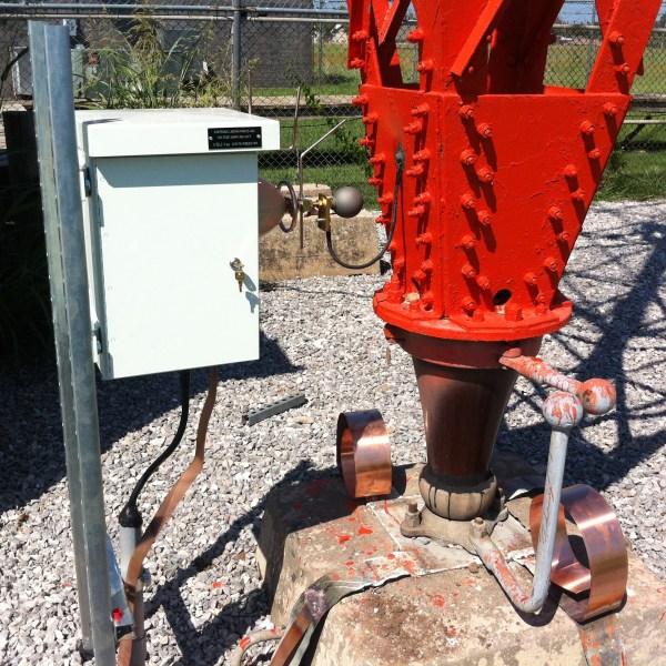 Installed Voltage Sampling Unit at KOKC Ctr Tower