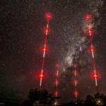 Trans World Radio 4-Tower MW Directional Antenna Array on the Island of Bonaire