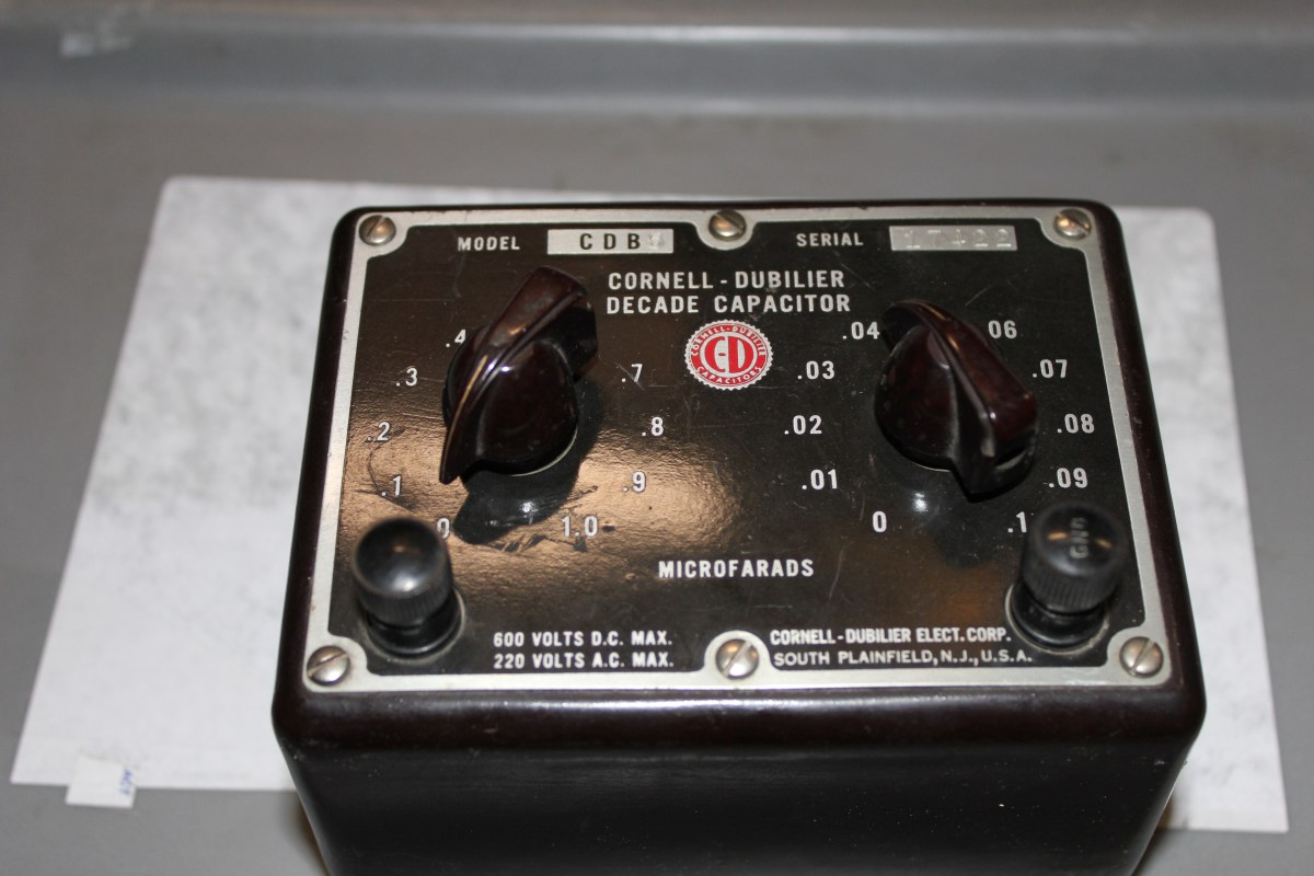 Cornell Dubilier Capacitor Decade Box Model CDB 5