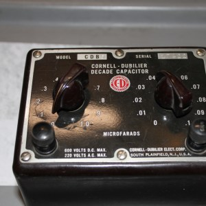 Cornell Dubilier Capacitor Decade Box Model CDB 5