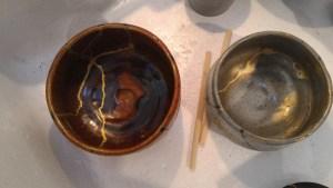 kintsugi, keshifun gold and brass
