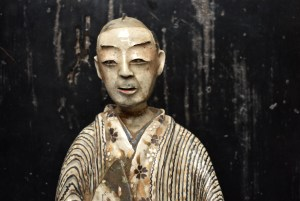 Edo male figure  traditional, lacquer based kintsugi