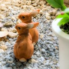 出雲大社東京分祀に飾られている、陶器のうさぎさん