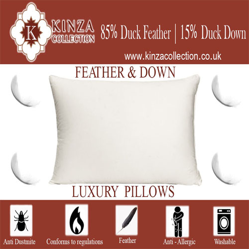Duck Feather Pillows with 15% Down