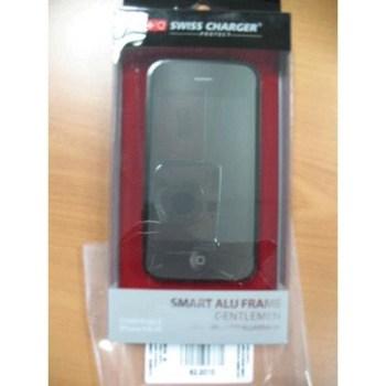 CUSTODIA X APPLE IPHONE4/4S SCP40016 SWISS CHARGER IN ALLUMINIO NERO PER UOMO
