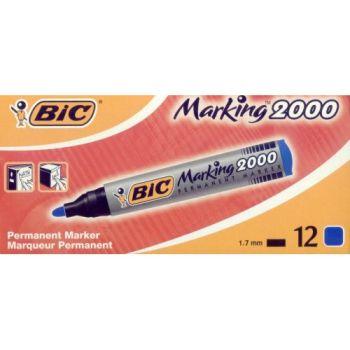 BIC MARKER 2000 PUNTA TONDA BLU  C.12