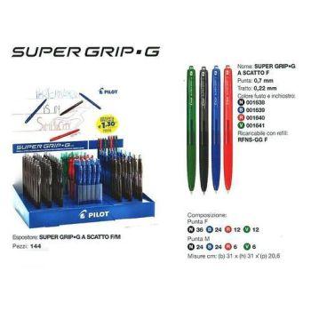 SUPER GRIP-G SCATTO F/M PENNA SFERA 144  31X31X20.6 - PILOT