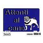 CARTELLO ATTENTI AL CANE 20X30CM