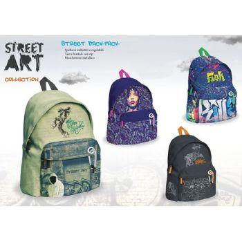 ZAINO STREET ART 42X32X17CM              CON MOSCHETTONE