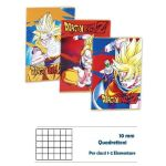 QUADERNO MAXI DRAGON BALL 100GR 72PG 10M