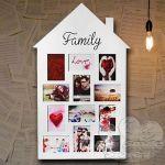 CORNICE BIANCAS IN PLASTICA FAMILY HOUSE CM.83X47 PER 12 FOTO 10X15CM