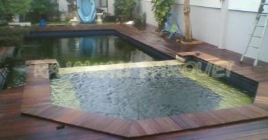 kayu pool deck kolam
