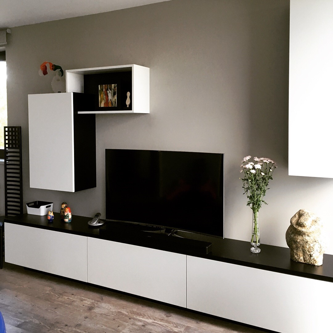 meuble tv sur mesure en medium laque