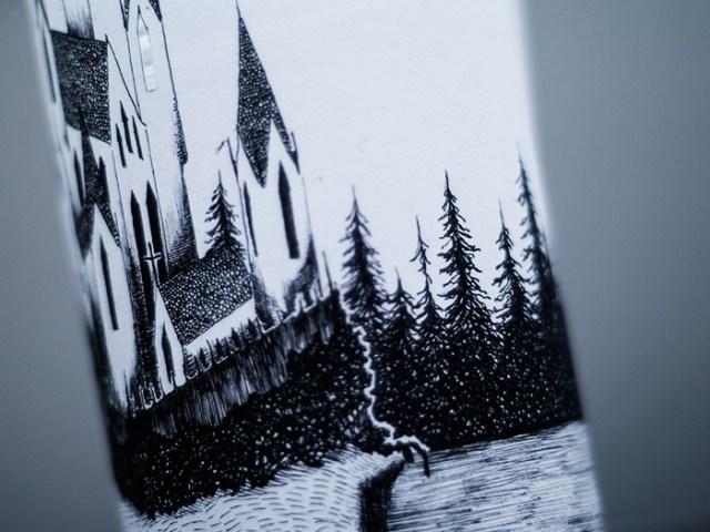 Paper lantern with illustration - kirabo.dk