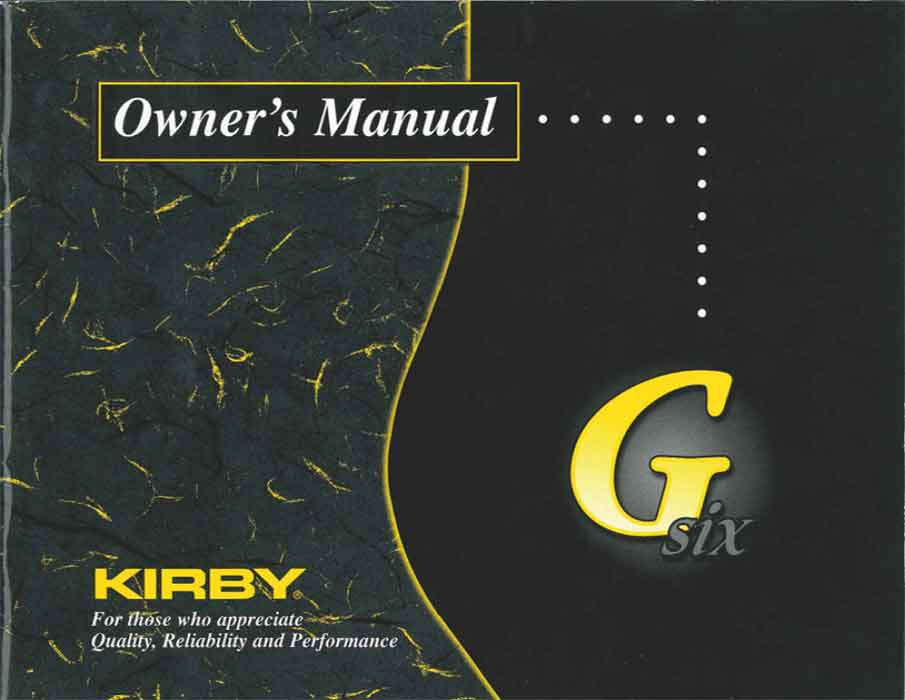 Download the Kirby G6 Owner Manual.