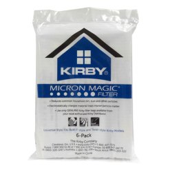 Kirby vacuum bags provide great filtration to easily remove dirt, hair and allergens from your carpet.