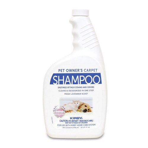 Kirby Pet Owners Carpet Shampoo is a easy clean carpet shampoo designed for cleaning dog pee, cat pee, vomit, pet odor and more.