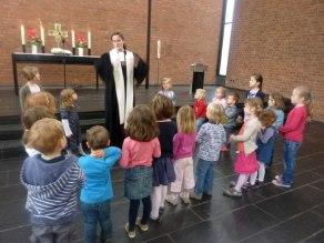 Kita-Kinder im Gottesdienst