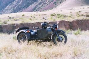 Side car sur les pistes Kirghizes ou du Kyrgyzstan
