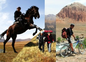 Horse riding, Trekking,Mountain bike