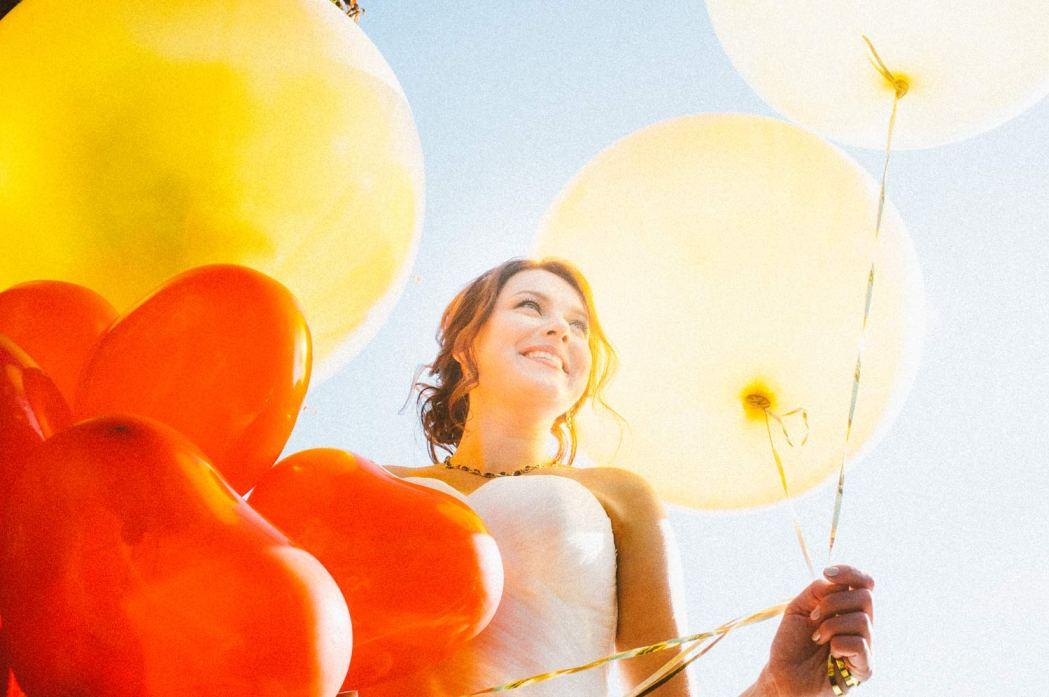 Невеста и воздушные шарики