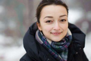 Фотосессия в Киеве зимой портрет девушки