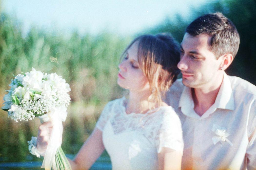 Фотосессия свадьбы на пленочный фотоаппарат
