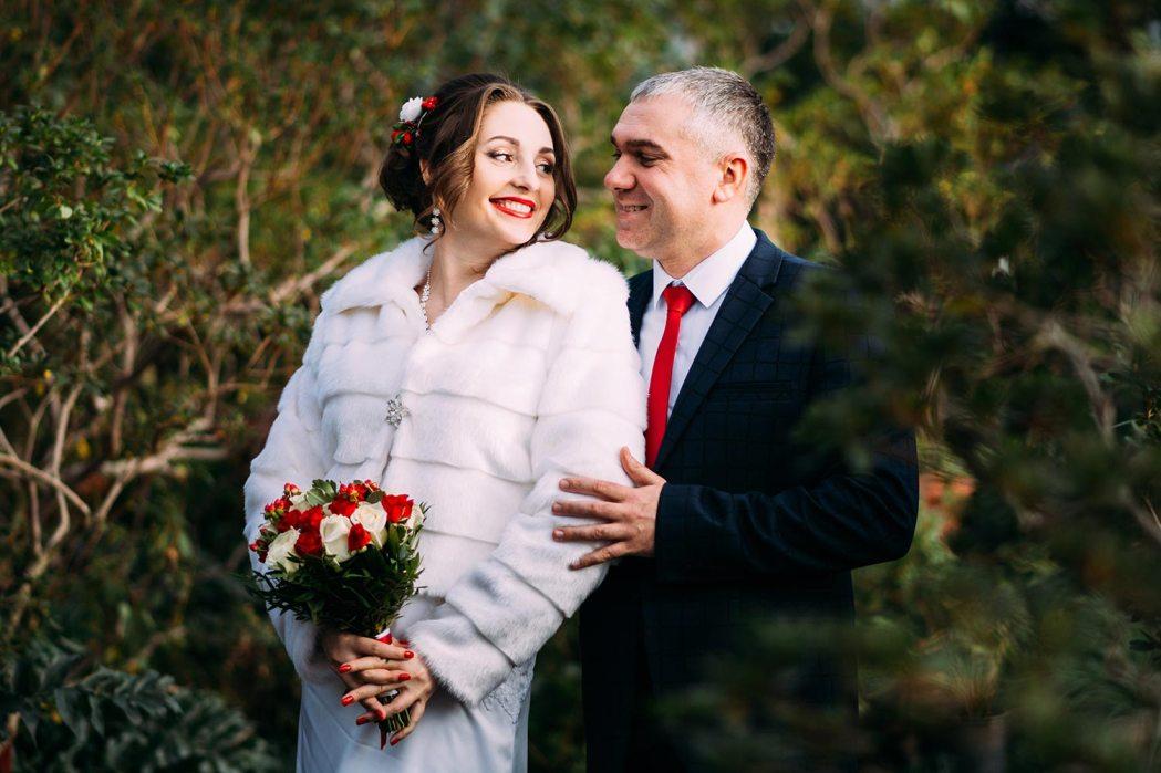 свадебная фотосессия зимой в оранжерее