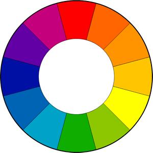 Цветовое колесо с 12 цветами