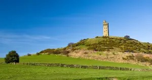 A landscape view of Castle Hill above Huddersfield