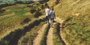 wild drugs - image of couple walking on country path - find a wild drug