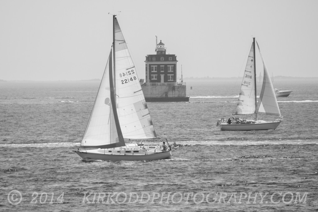 Ledge Light in Black and White